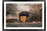 The old Hay Barn, Framed Mounted Print