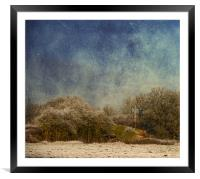 Corner of a field, Framed Mounted Print