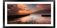 Aberystwyth harbour mouth 2, Framed Mounted Print