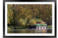Boating on the river thames, Framed Mounted Print