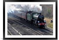 Cathedrals Express train Mayflower 61306, Framed Mounted Print