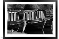 Kennet and Avon narrow boats, Framed Mounted Print