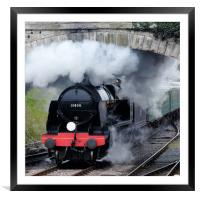 Swanage steam engine 31806, Framed Mounted Print