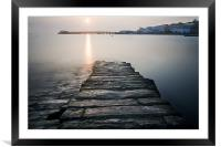 Harbour wall, Framed Mounted Print