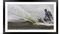Jet Ski wave, Framed Mounted Print