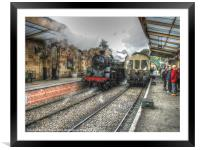 75029 GREEN KNIGHT STEAM ENGINE, Framed Mounted Print