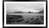 The Cuillin's in the mist, Framed Mounted Print
