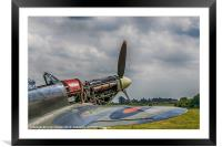 Covers Off Hawker Hurricane, Framed Mounted Print