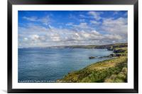 Port Isaac to Tintagel View, Framed Mounted Print