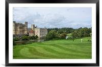Putting at Leeds Castle Golf Course , Framed Mounted Print