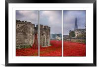 Blood Swept Lands Tryptych , Framed Mounted Print