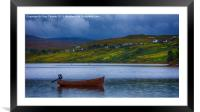 Carbost Loch Harport, Framed Mounted Print