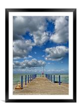 Whitstable Harbour Wall, Framed Mounted Print