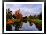Autumn Reflections at Wrest Park, Framed Mounted Print