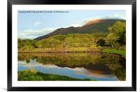 Reflections on Loch Etive, Framed Mounted Print