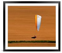 Wheat Field Paraglider, Framed Mounted Print