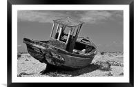 Shingle Sailor Boat Dungeness, Framed Mounted Print