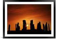 Sunset over Callanish, Framed Mounted Print