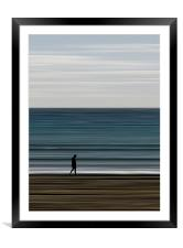 water's edge, Framed Mounted Print