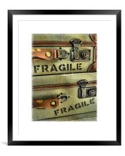 handle with care, Framed Mounted Print