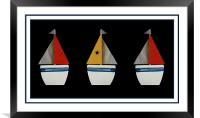 I saw three ships..., Framed Mounted Print