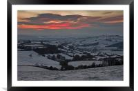 Snow in the Exe valley, Framed Mounted Print