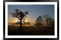 Sunrise in the Culm Valley, Framed Mounted Print