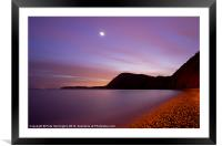 Sidmouth beach and Venus, Framed Mounted Print