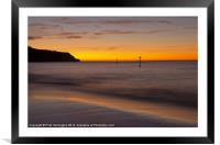 Sunrise Towards Orcombe Point - Exmouth, Framed Mounted Print