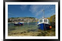 Mousehole in Cornwall, Framed Mounted Print