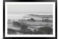 Mist in the Exe Valley, Framed Mounted Print