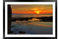 Sunrise at Ladram bay, Framed Mounted Print