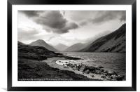 Wastwater in The Lake District, Framed Mounted Print