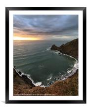 Lundy from near Blagdon, Framed Mounted Print