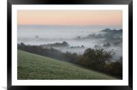 Bradninch in the Mist, Framed Mounted Print