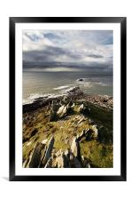 Morte point - North Devon, Framed Mounted Print