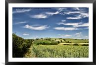 Wispy clouds over caseberry downs, Framed Mounted Print