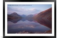 Wastwater in Cumbria, Framed Mounted Print