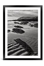 Croyde beach in North Devon, Framed Mounted Print