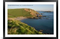 Ayrmer Cove in South Hams, Framed Mounted Print