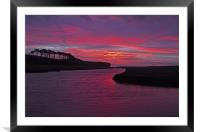 Budleigh Salterton at Dawn, Framed Mounted Print