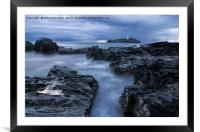 Godrevy Lighthouse, Framed Mounted Print
