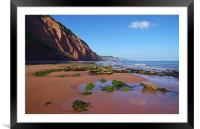 Sidmouth West Beach, Framed Mounted Print