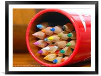 Crayons, Framed Mounted Print