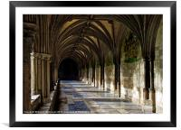 Norwich Cathedral Cloisters, Framed Mounted Print