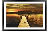 DERWENT WATER FROM HAWSE END, Framed Mounted Print
