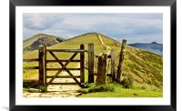 The Gate To The Great Ridge , Framed Mounted Print