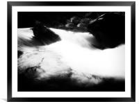 The white Blackwater, Framed Mounted Print