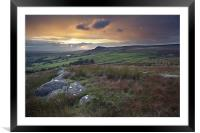 An Embsay Crag Sunset, Framed Mounted Print