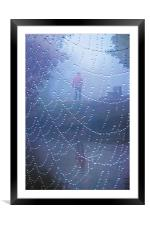 Walk in the mist, Framed Mounted Print